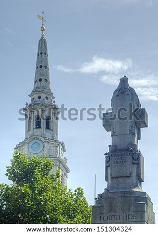 The Saint Martin in the Fields church in London, UK - stock photo
