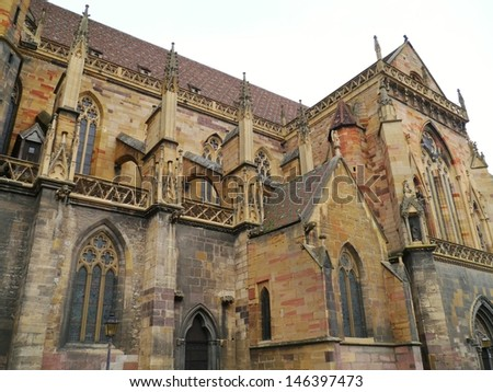 The Saint Martins cathedral in Colmar in the Alsace in France