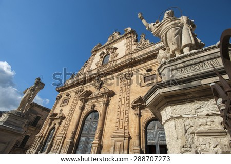 The Saint Peter church in the town of Modica, Ragusa, Sicily, Italy