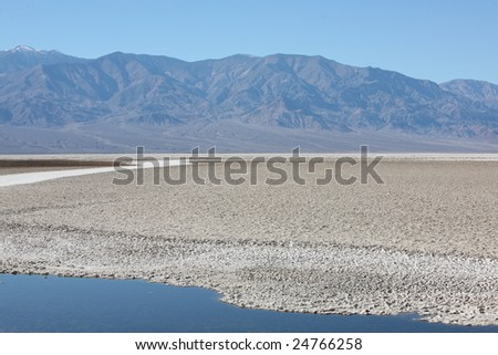 The Salt Flats in Death Valley National Park.