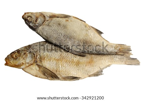 The salty bream it is isolated on a white background