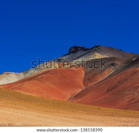 The Salvador Dali desert. Bolivia. - stock photo
