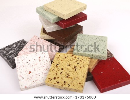 The samples of collection ceramic tile  - stock photo