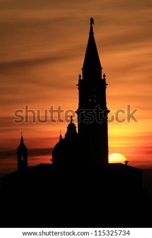 The San Giorgio Maggiore church in Venice, Italy - stock photo