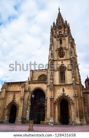 The San Salvador Oviedo Cathedral in Asturias (Spain).