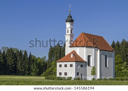 The Sanctuary of St. Leonhard in Dietramszell in Upper Bavaria