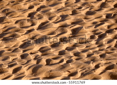 the sand background