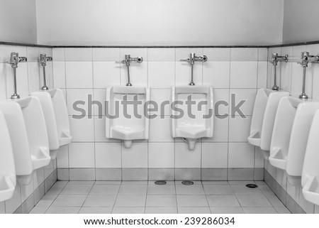 The sanitary ware for men. - stock photo