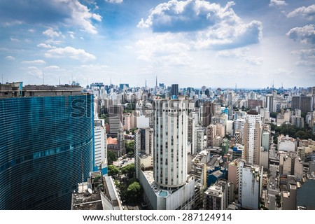 The Sao Paulo city in South America, Brazil - stock photo