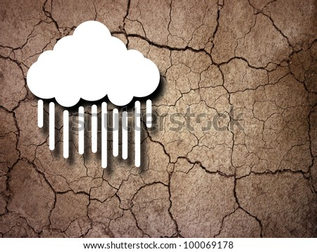 the saviour cloud - stock photo