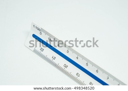 The scale ruler with isolated background.