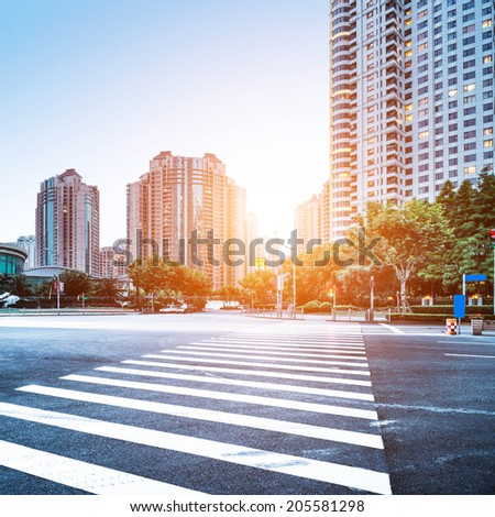 the scene of the century avenue in shanghai,China - stock photo