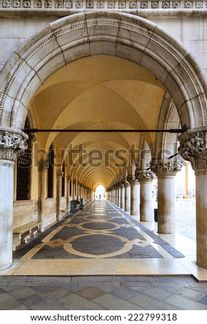 The scenery at San Marco Plaza in Venice Italy - stock photo