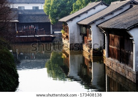 The scenery of Wuzhen, one of the Chinese ancient town