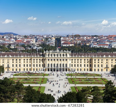 The Schönbrunn Palace is a former imperial Rococo summer residence in modern Vienna, Austria and today one of the most important cultural monuments in the country.