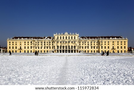 The Schonbrunn palace in Vienna - stock photo