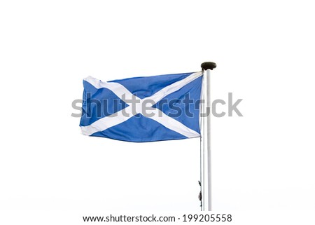 The Scottish flag or saltire - stock photo