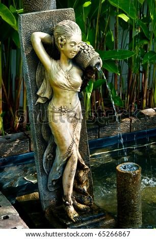 The Sculpture of women - stock photo