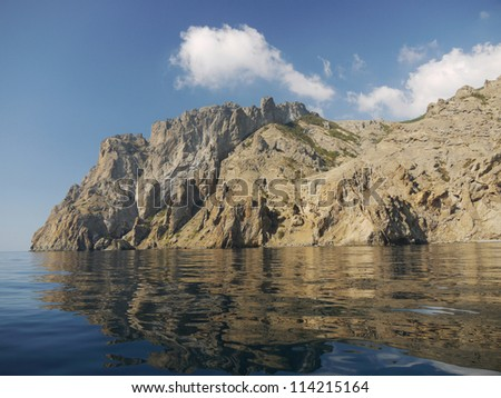 The sea and rocks in Crimea