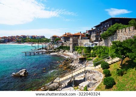 The seaside resort of Sozopol in Bulgaria - stock photo