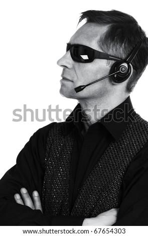 The secret agent, secret service - stock photo