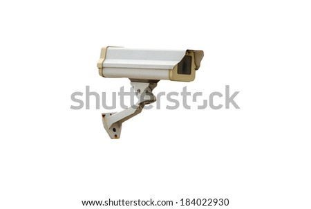 The Security cameras on a white background.
