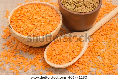 the seeds of red and green lentils diet supplements