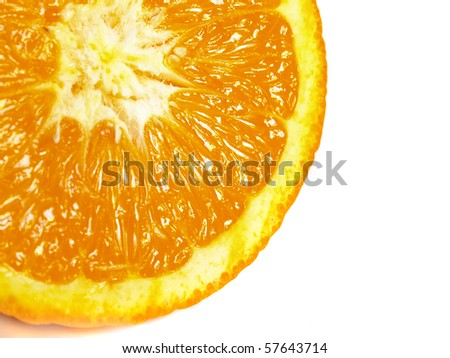 the segment of big juicy orange