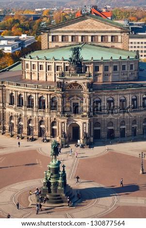 the semper opera - Dresden - Germany - stock photo