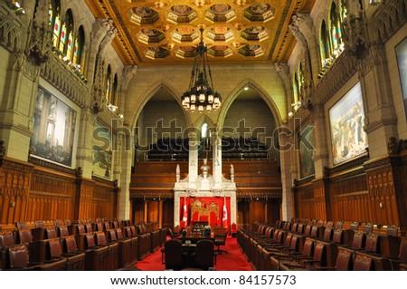 The Senate of Parliament Building, Ottawa, Canada - stock photo