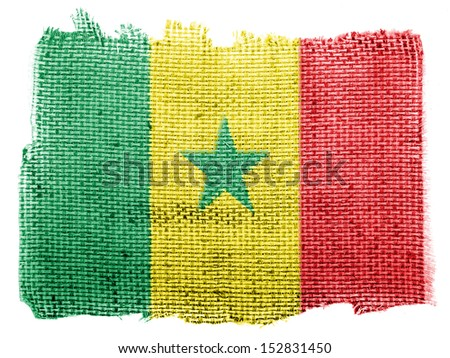 The Senegal flag piece of fabric