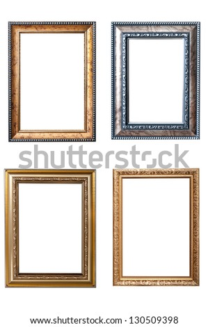 the set of frames - stock photo