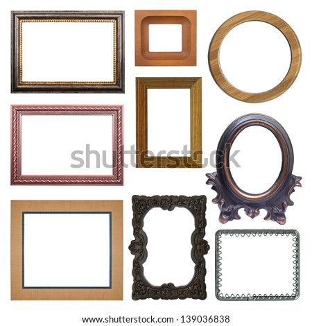 the set of frames isolated on white background - stock photo
