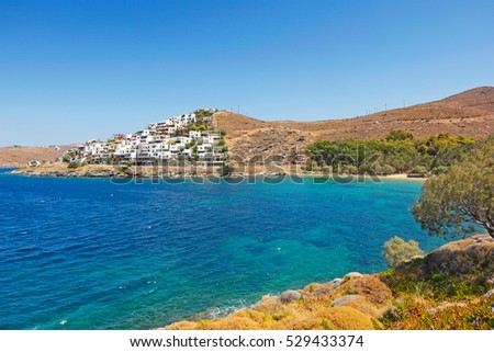 The settlement of Gialiskari is built on a small hill in Kea island, Greece