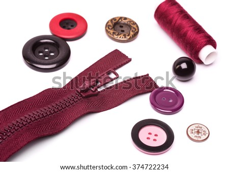 the sewing accessories - stock photo