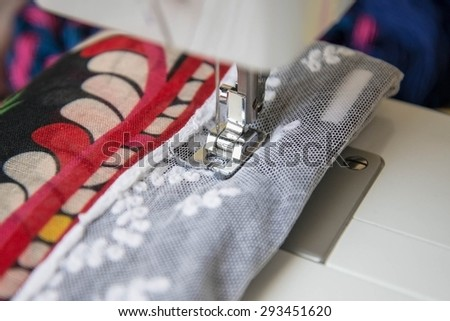 The Sewing Machine - stock photo