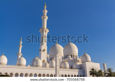 The Sheikh Zayed Grand Mosque in the afternoon, UAE
