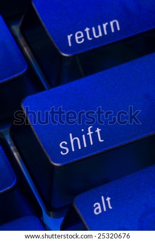 the shift key on a computer keyboard