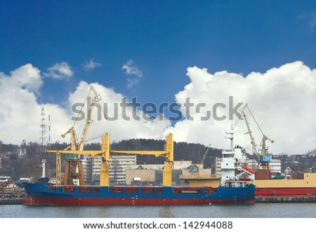 The ships are in port  berth