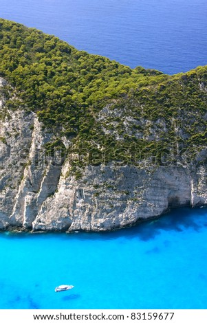 The Shipwreck beach from above - stock photo
