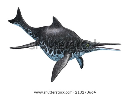 The Shonisaurus was an aquatic dinosaur that lived during the Late Triassic period. - stock photo