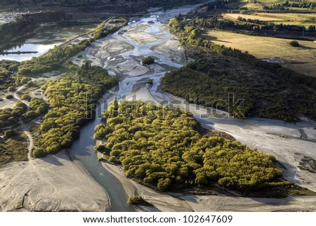 The Shotover river, Queenstown, New Zealand