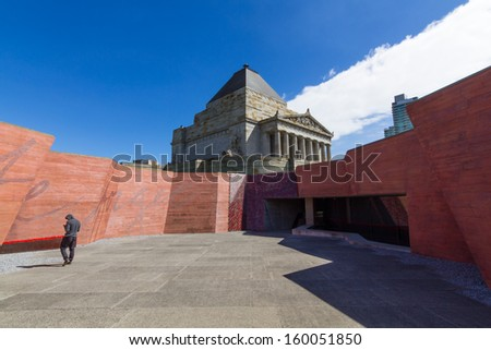 The shrine of remembrance at Melbourne , Australia - stock photo