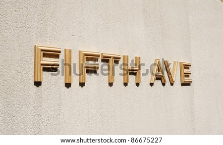 The sign Fifth Ave in New York City