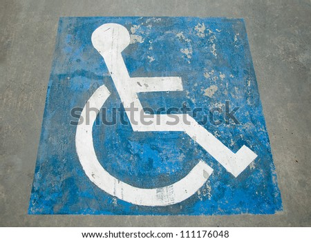 The Sign of public restroom for handicapped - stock photo