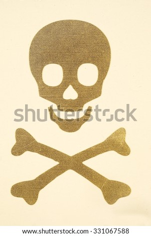 The sign of  Skull and Bones - stock photo