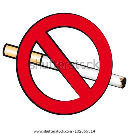 The sign prohibiting smoking