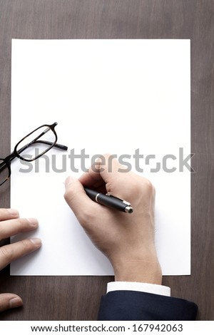 The signature and pen.