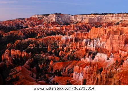 The Silent City of Bryce Canyon From Sunrise Point.  Bryce Canyon National Park, Utah