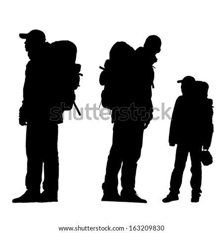 hiking silhouette desktop wallpaper - photo #37